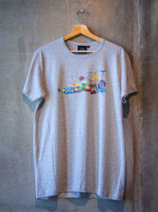 T-shirt with Clown Supplies print